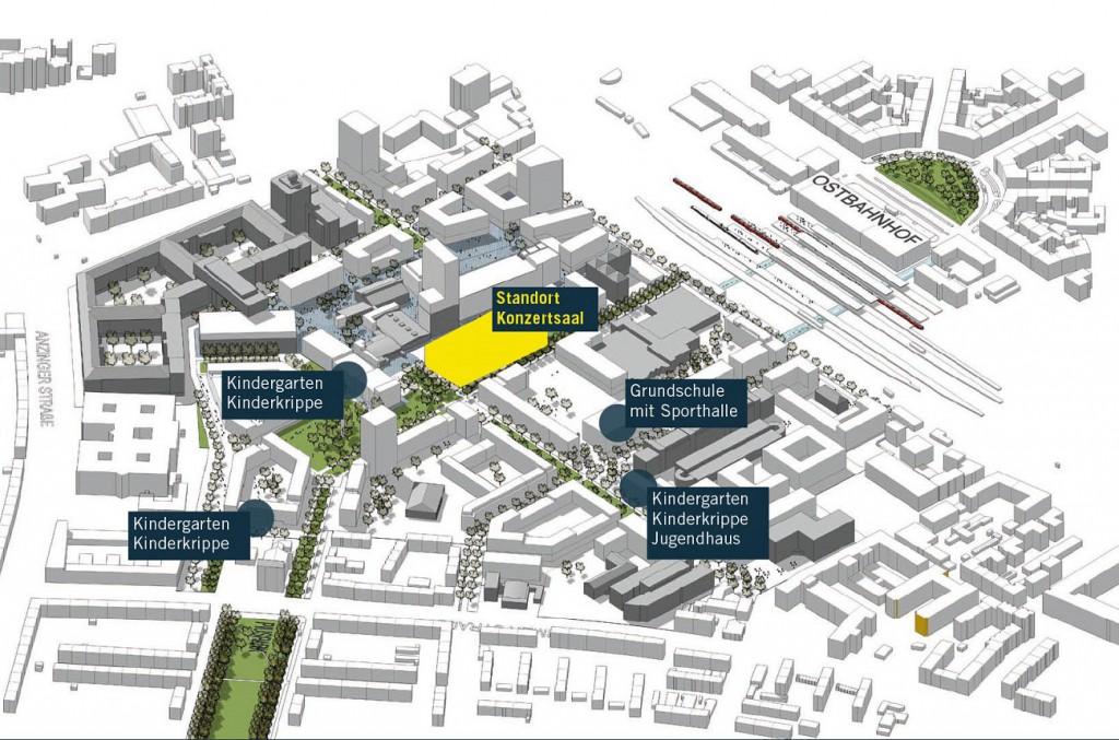 Das Werksviertel entwickelt sich und dazu gehört auch soziale Infrastruktur. Bild: steidle architekten